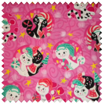 Mod Christmas Cats-pink