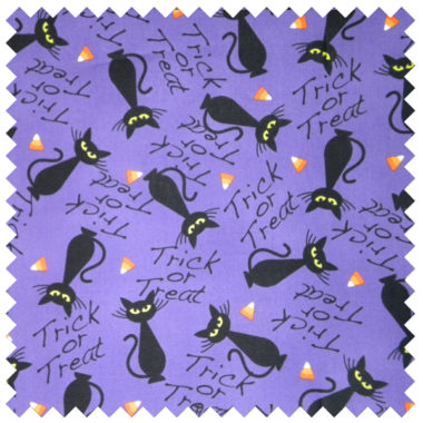 Black Halloween Cats-Purple Background