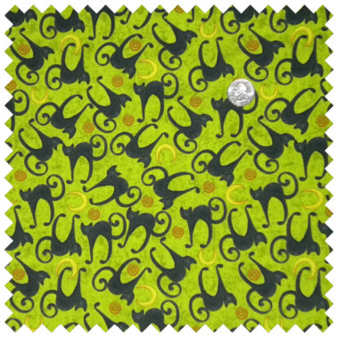 Spookyville cats-lime
