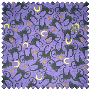 Spookyville Silhouette Halloween Cats-Purple